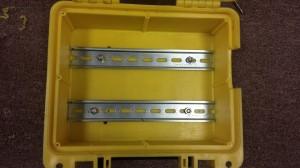 Install DIN rails