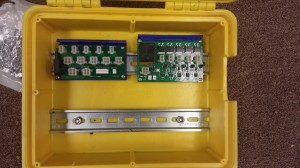 Install Current Limiting Arming board (right) and wiring harness distribution board (left)